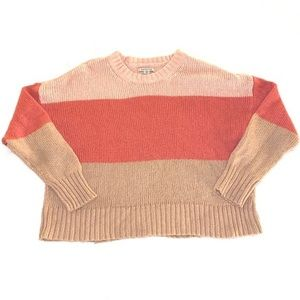 AMERICAN EAGLE COLOR BLOCK SWEATER SIZE LARGE